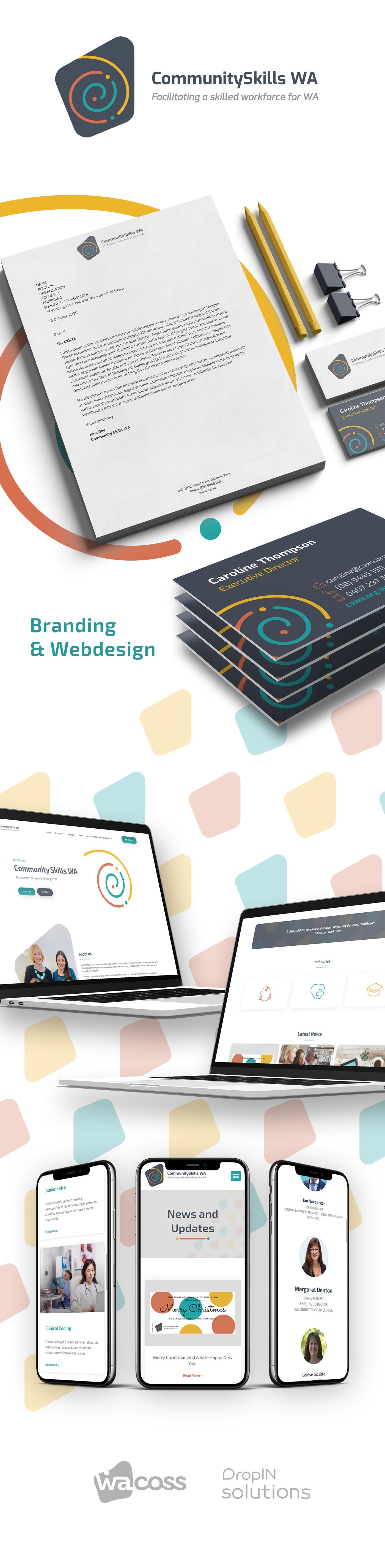 Community Skills WA brand construction, Logo and website design